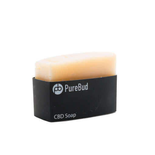 a single cbd-based soap with black cover