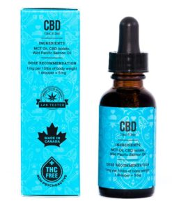 back of product tincture and packaging box