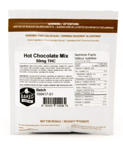 back of white packaging with nutritional label