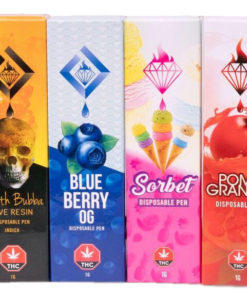 assortment of diamond concentrate vape boxes